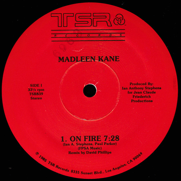 Kane, Madleen On Fire Vinyl