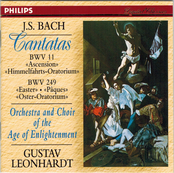 Bach - Orchestra And Choir Of The Age Of Enlightenment, Gustav Leonhardt Cantatas BWV 11  & 249 CD
