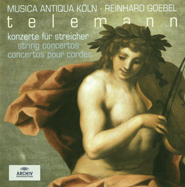 Telemann - Musica Antiqua Köln, Reinhard Goebel  String Concertos Vinyl