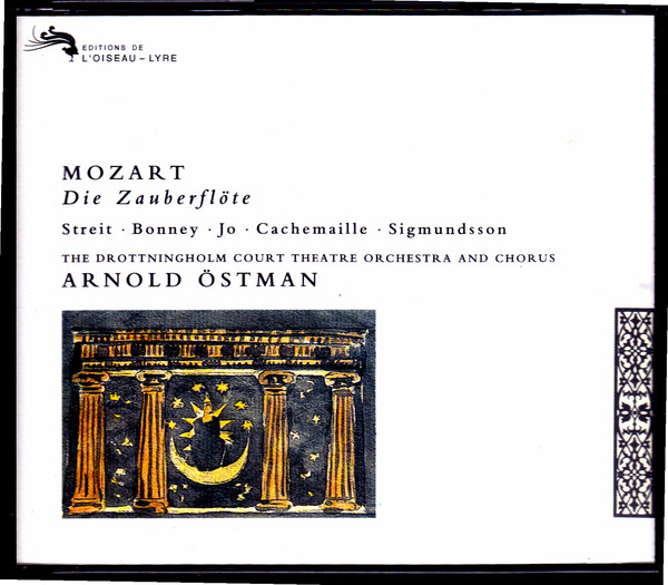 Mozart - Bonney, Jo, Streit, Cachemaille, Chorus And Orchestra Of The Drottningholm Court Theatre, Arnold Östman Die Zauberflöte CD