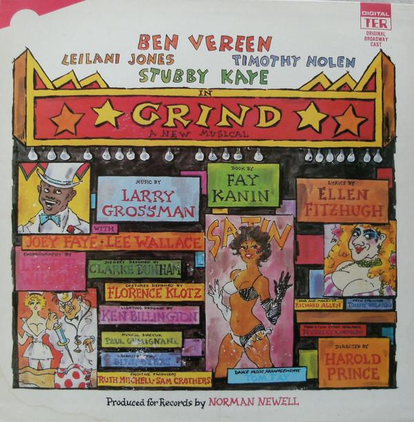 Ben Vereen, Leilani Jones Timothy Nolen, Stubby Kaye – Grind -- Original Cast Recording Vinyl