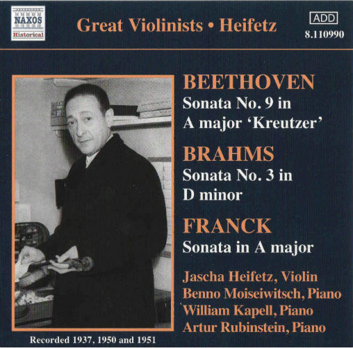 Heifetz, Beethoven, Brahms, Franck Violin Sonatas