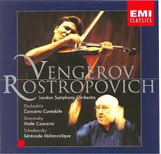 Shchedrin/Stravinsky/Tchaikovsky - Vengerov, Rostropovich Concerto Cantabile / Violin Concerto / Sérénade Mélancolique Vinyl