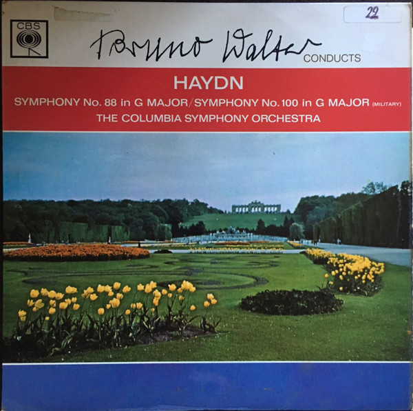 Haydn - Bruno Walker Symphony No. 88 in G major, Symphony No. 100 in G major Vinyl