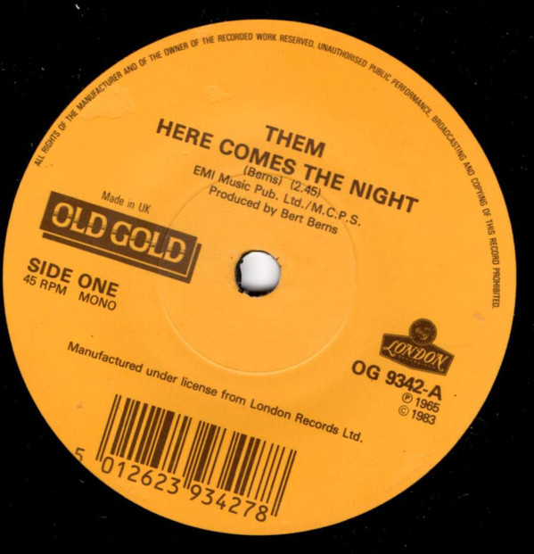 Them / Ten Years After Here Comes The Night / Love Like A Man Vinyl