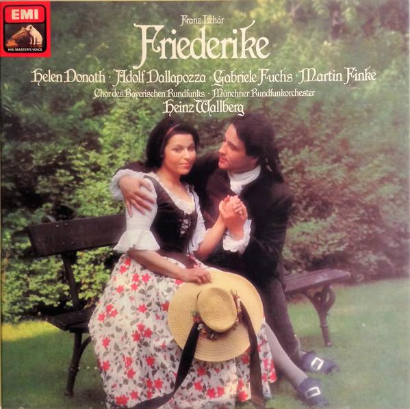 Lehar - Donath, Dallapozza, Fuchs, Finke, Heinz Wallberg Friederike Vinyl