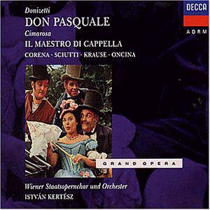 Donizetti - Corena, Sciutti, Krause, Oncina, Vienna Opera Orchestra & Chorus, Istvan Kertesz Don Pasquale Vinyl