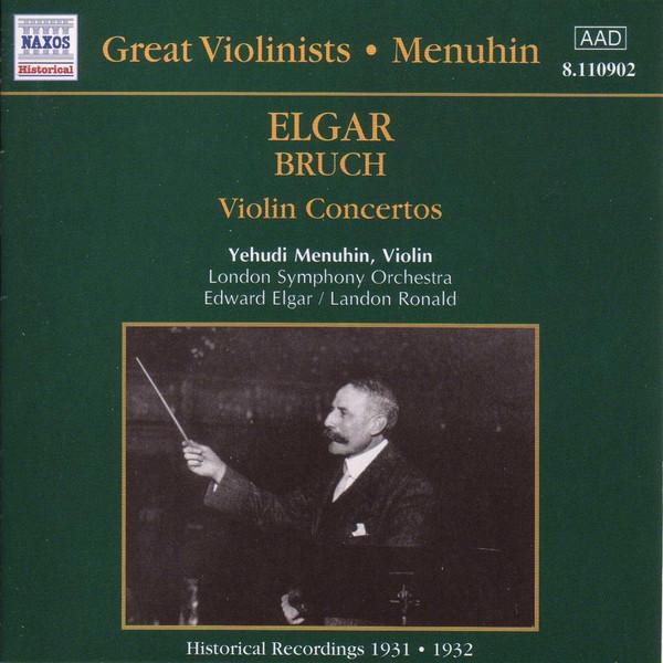 Elgar, Bruch, Yehudi Menuhin Violin Concertos Vinyl