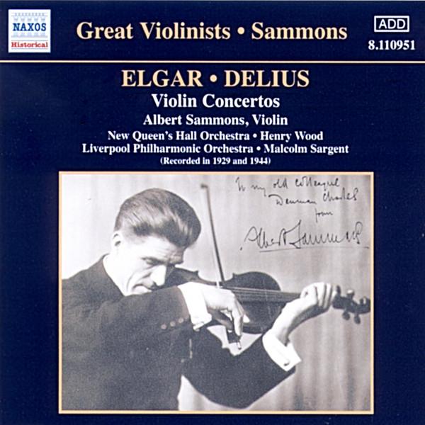 Elgar, Delius, Albert Sammons Violin Concertos Vinyl