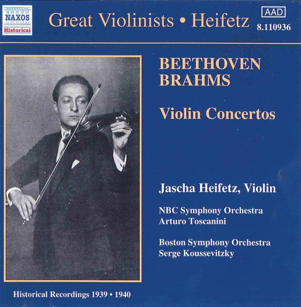 Beethoven, Brahms, Jascha Heifetz Violin Concertos