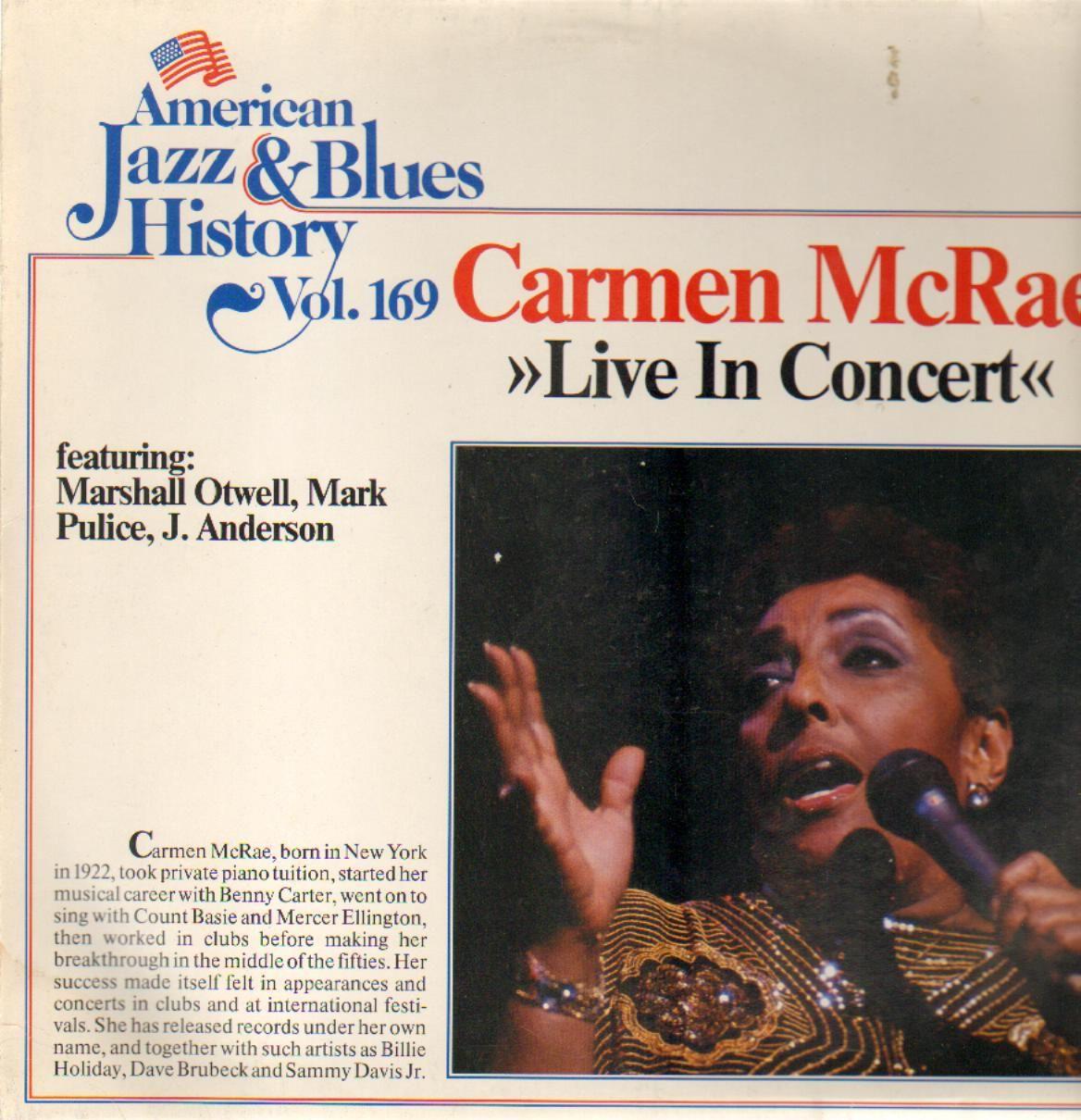 McRae, Carmen Live In Concert