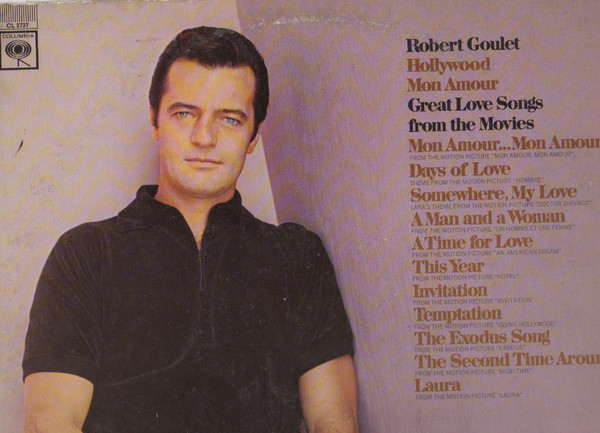 Robert Goulet Hollywood Mon Amour Vinyl