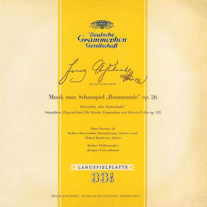Schubert - Diana Eustrati, Michael Reucheisen, Fritz Lehmann Rosamunde Vinyl