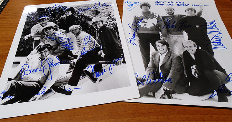 Beach Boys signed pics